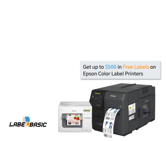 Get up to 500 in free labels on Epson Label Printers
