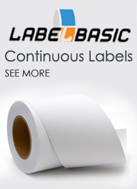 continous label rolls blank