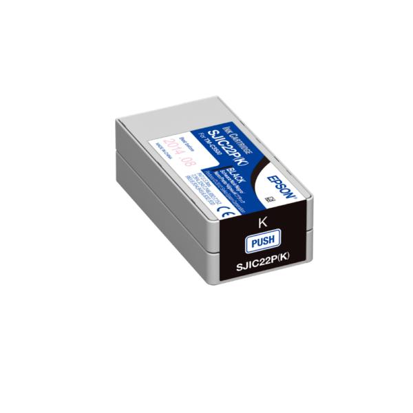 Epson TM-C3500 Color Label Printer Ink Black SJIC22P